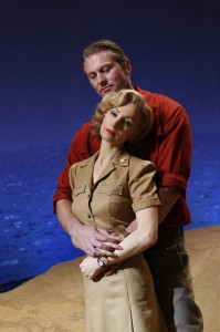Lisa McCune as Nellie Forbush and Teddy Tahu Rhodes as Emile De Becque in Opera Australia's SOUTH PACIFIC Photo by Jeff Busby